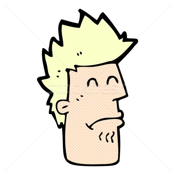 Fumetto cartoon uomo sentimento malati retro Foto d'archivio © lineartestpilot