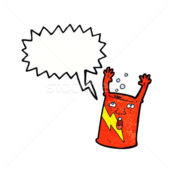 Karikatür karakter konuşma balonu el yüz Stok fotoğraf © lineartestpilot