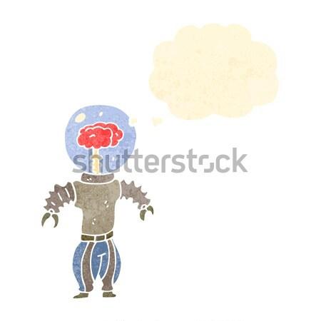 Stock fotó: Rajz · nagy · haj · előadó · férfi · szövegbuborék