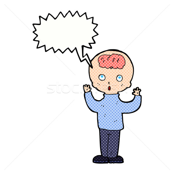 Cartoon genie tekstballon hand man ontwerp Stockfoto © lineartestpilot