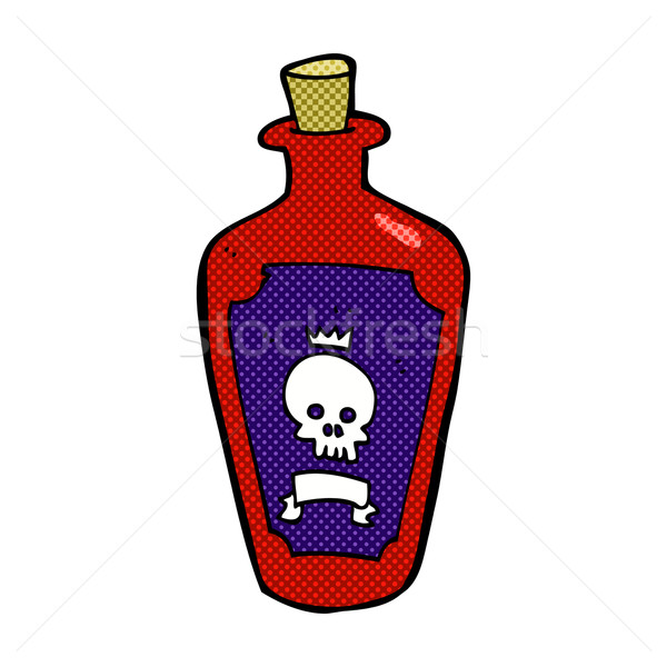 Stock photo: comic cartoon poison