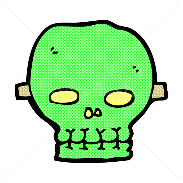comic cartoon spooky skull mask Stock photo © lineartestpilot