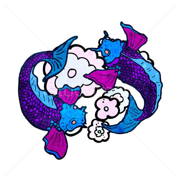 ニシキゴイ 鯉 入れ墨 実例 テクスチャ 手 ストックフォト © lineartestpilot