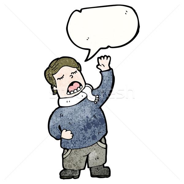 cartoon singing man Stock photo © lineartestpilot