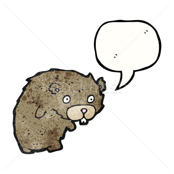 Cartoon бобр искусства ретро рисунок Cute Сток-фото © lineartestpilot