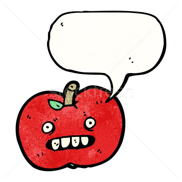 Cartoon lelijk appel kunst retro tekening Stockfoto © lineartestpilot