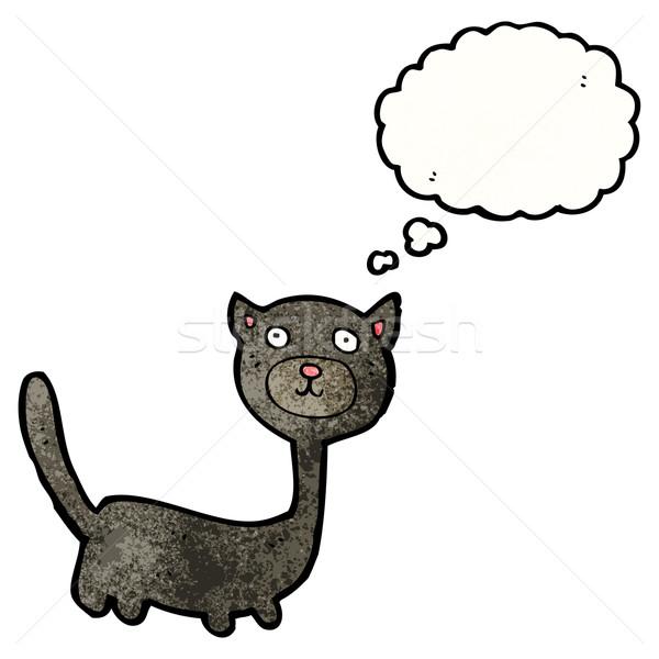 かわいい ハロウィン 黒猫 猫 レトロな 図面 ストックフォト © lineartestpilot