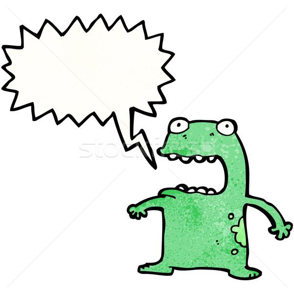 funny frog cartoon Stock photo © lineartestpilot