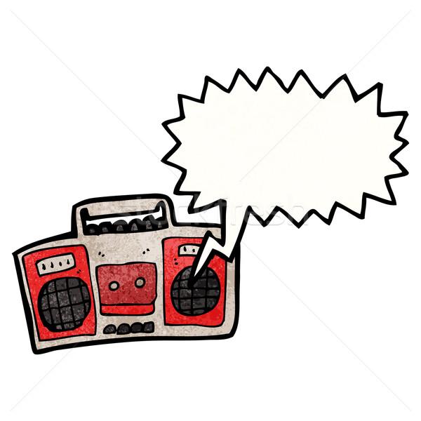 cartoon radio Stock photo © lineartestpilot