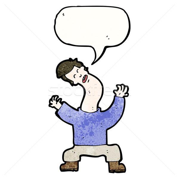 cartoon man with bent neck Stock photo © lineartestpilot
