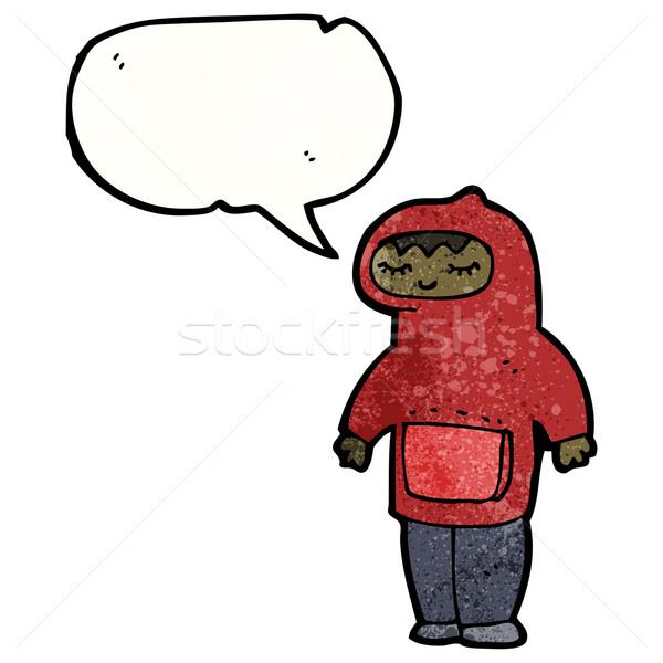 teen in hooded sweatshirt cartoon Stock photo © lineartestpilot