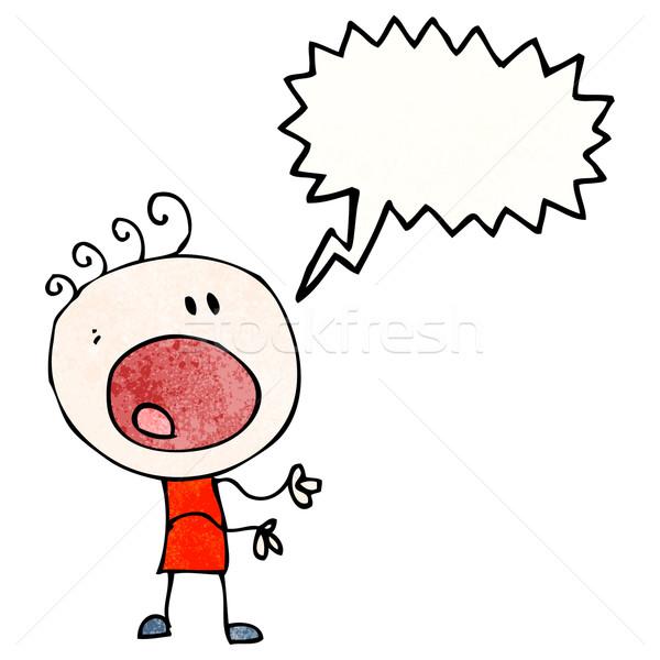 cartoon complaining boy Stock photo © lineartestpilot