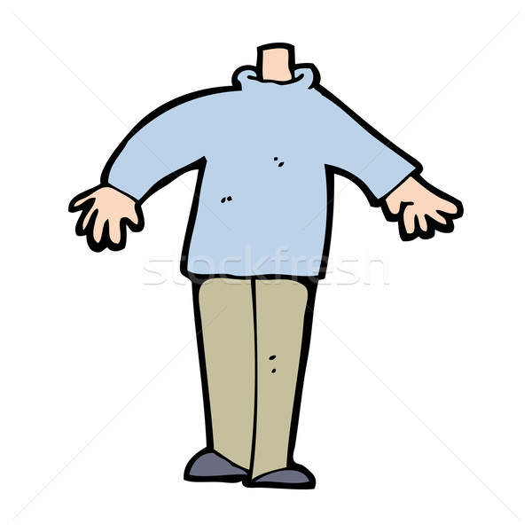 Desenho Animado Masculino Corpo Combinar Ilustracao De