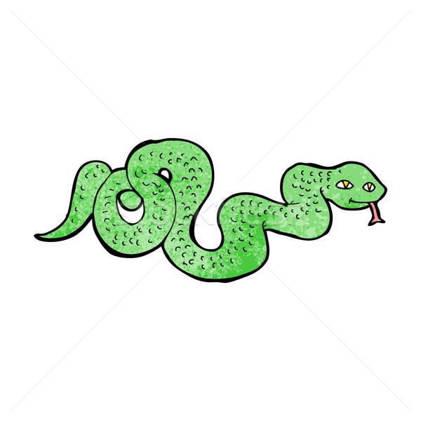 Rajz kígyó terv művészet retro vicces Stock fotó © lineartestpilot