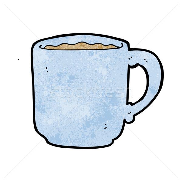 Desenho animado caneca de café café projeto arte retro Foto stock © lineartestpilot