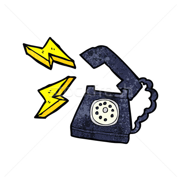 cartoon ringing telephone with thought bubble Stock photo © lineartestpilot