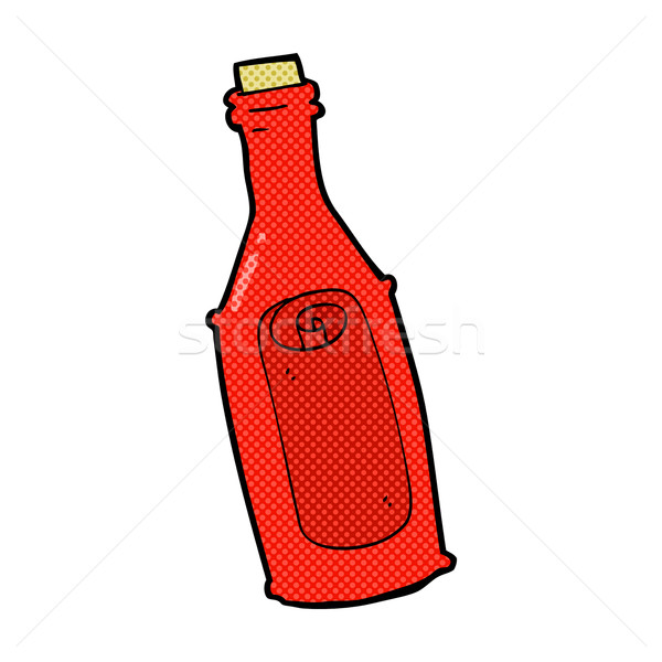 Komik karikatür mesaj şişe Retro Stok fotoğraf © lineartestpilot