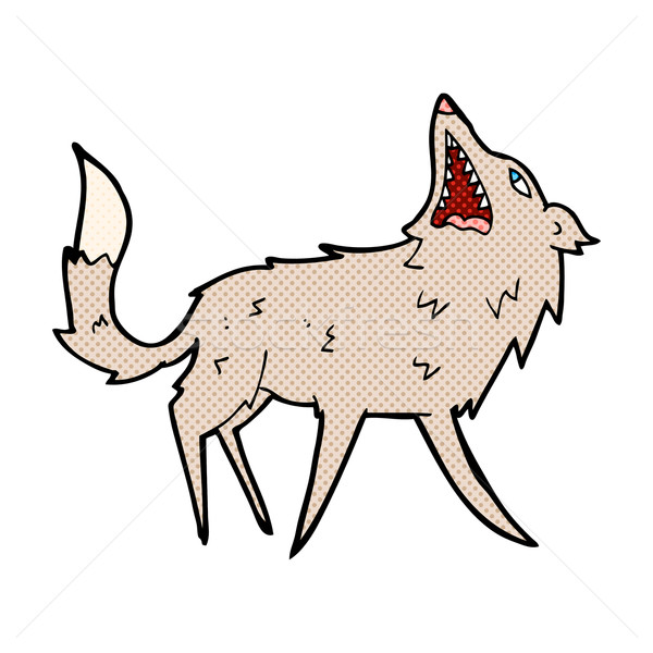 comic cartoon snapping wolf Stock photo © lineartestpilot