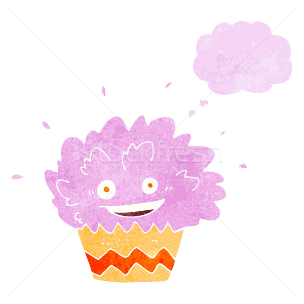 cartoon exploding cupcake with thought bubble Stock photo © lineartestpilot