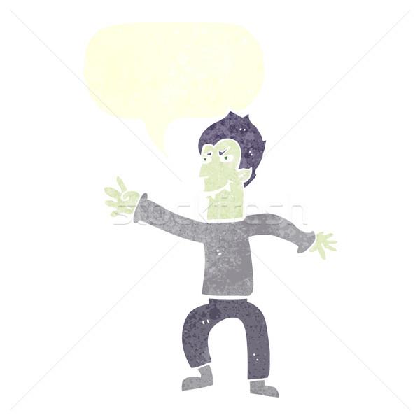 Rajz vámpír férfi szövegbuborék kéz terv Stock fotó © lineartestpilot