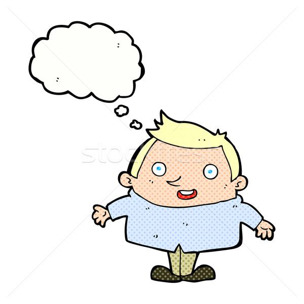 漫画 幸せ 男 思考バブル 手 デザイン ストックフォト © lineartestpilot