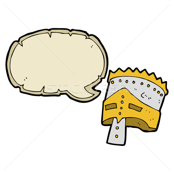 cartoon king's armor with speech bubble Stock photo © lineartestpilot