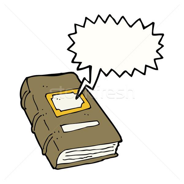 Karikatür eski kitap konuşma balonu el kitap dizayn Stok fotoğraf © lineartestpilot