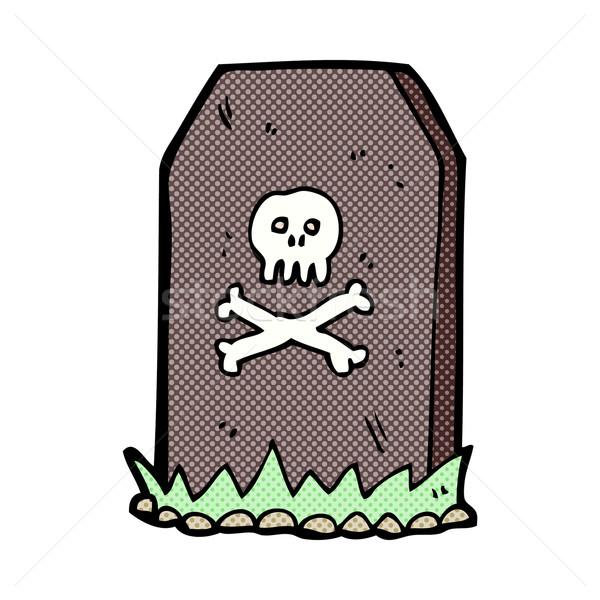 Cómico Cartoon graves retro Foto stock © lineartestpilot