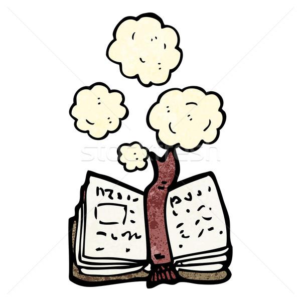 Poeirento velho livro desenho animado textura mão livro Foto stock © lineartestpilot