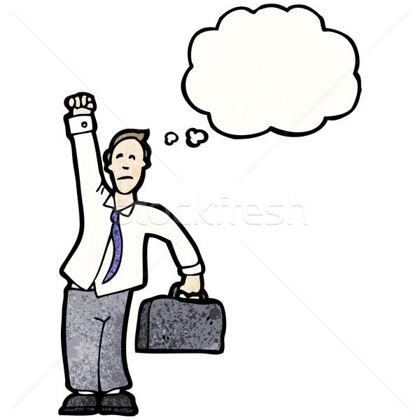 Сток-фото: Cartoon · бизнесмен · воздуха · бизнеса · говорить · ретро