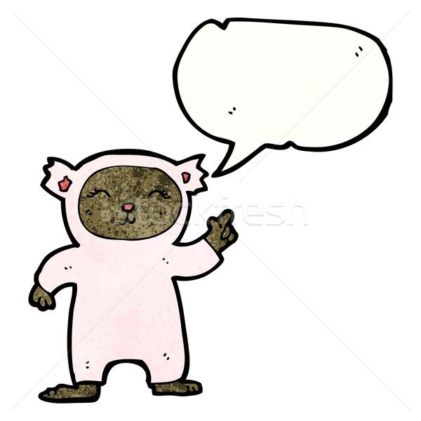 cartoon child in bear costume Stock photo © lineartestpilot