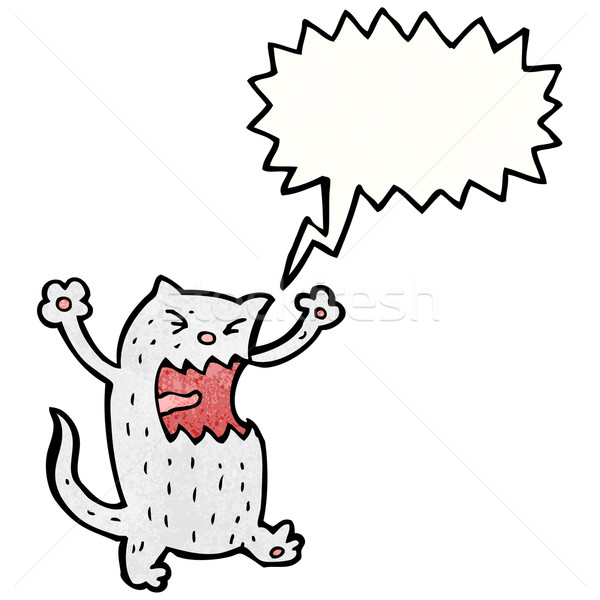 cartoon angry cat Stock photo © lineartestpilot