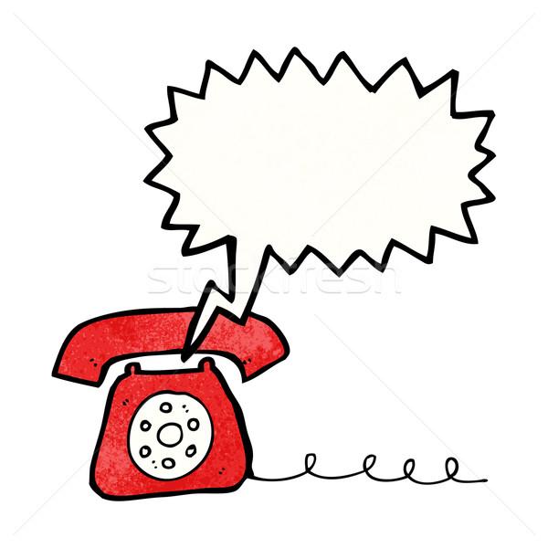ringing telephone cartoon Stock photo © lineartestpilot