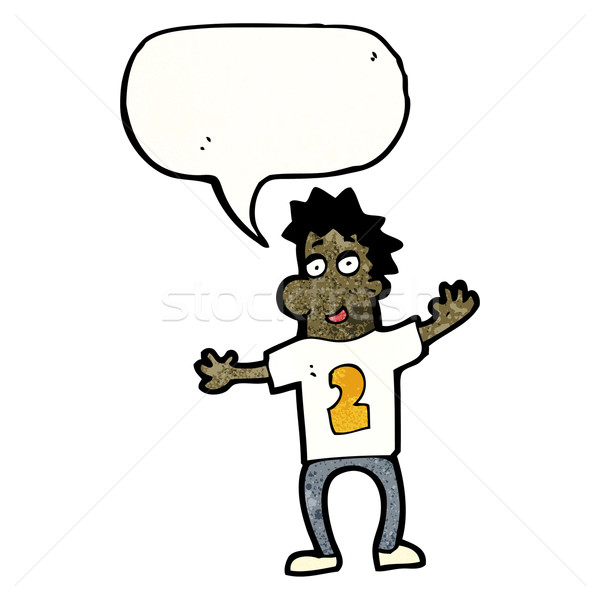 cartoon man in numbered sports shirt Stock photo © lineartestpilot