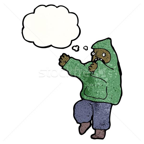 cartoon boy in hooded sweatshirt Stock photo © lineartestpilot