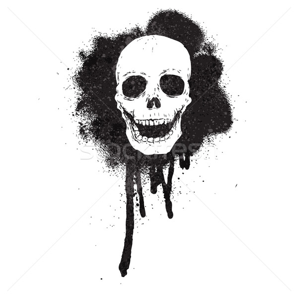 graffiti spray paint stencil skull Stock photo © lineartestpilot