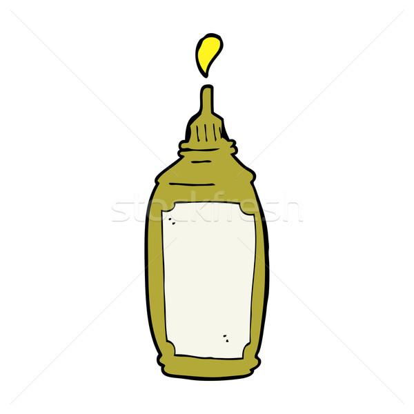 Cartoon горчица бутылку продовольствие дизайна искусства Сток-фото © lineartestpilot