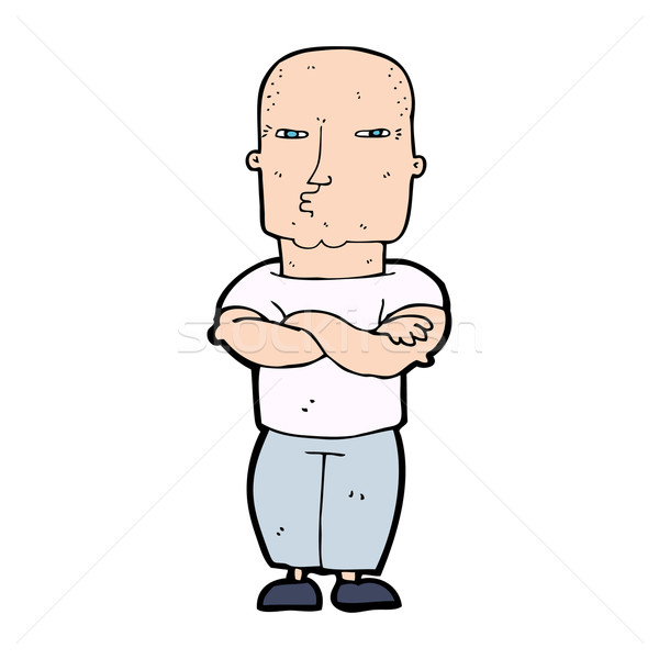 cartoon tough guy Stock photo © lineartestpilot