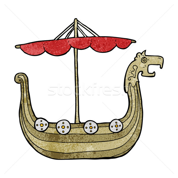 cartoon viking ship Stock photo © lineartestpilot