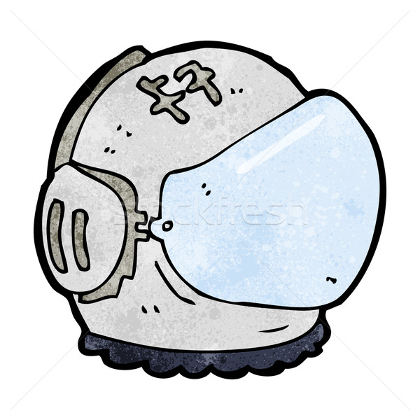 Cartoon astronaute casque main design espace Photo stock © lineartestpilot
