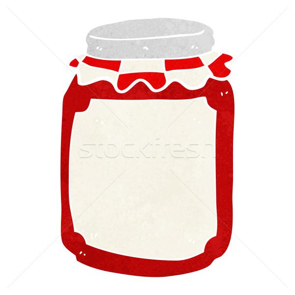 Stock photo: cartoon jar of preserve