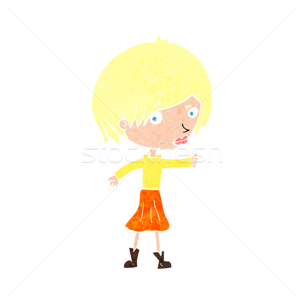 cartoon woman raising eyebrow Stock photo © lineartestpilot