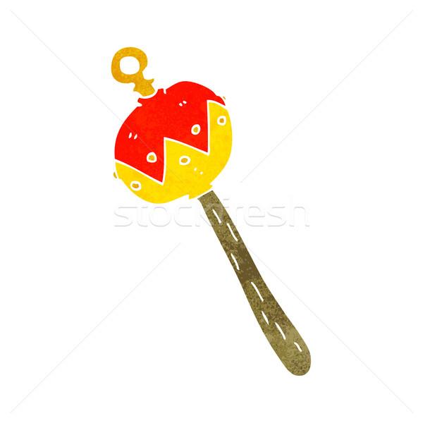 Cartoon старые греметь стороны дизайна игрушку Сток-фото © lineartestpilot