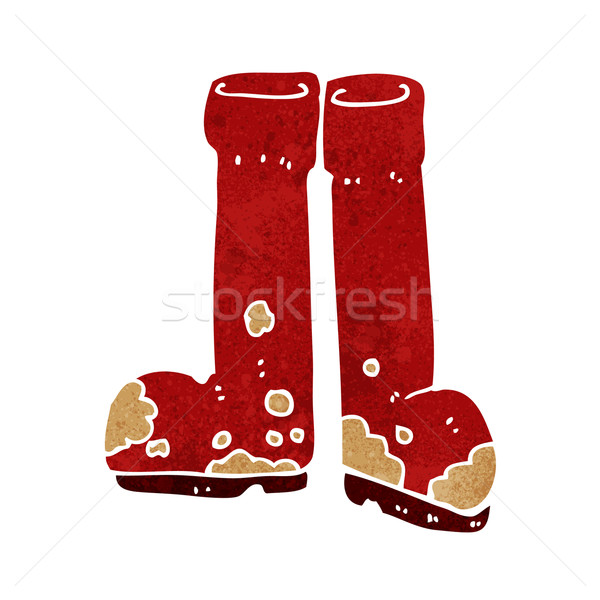 cartoon muddy boots Stock photo © lineartestpilot