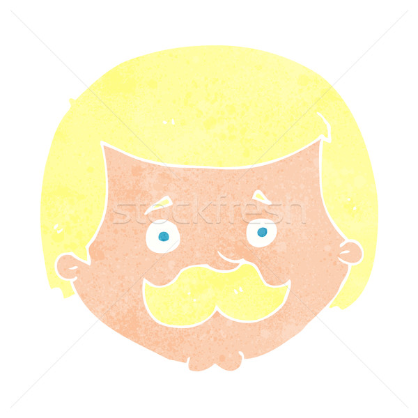 cartoon man with mustache Stock photo © lineartestpilot