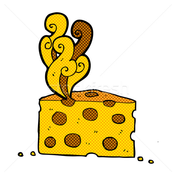 comic cartoon smelly cheese Stock photo © lineartestpilot