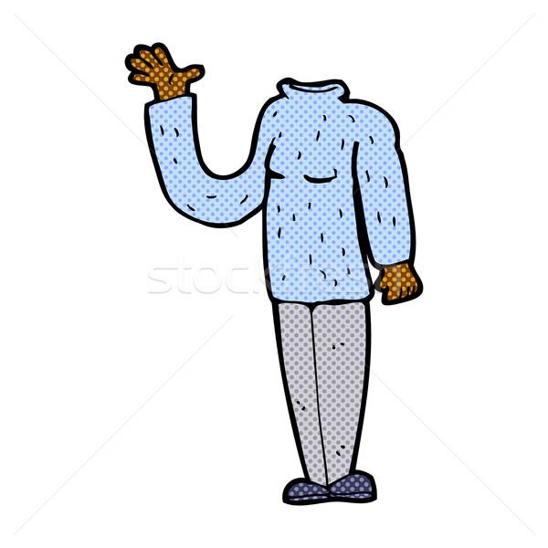 comic cartoon headless body (mix and match comic cartoons or add Stock photo © lineartestpilot