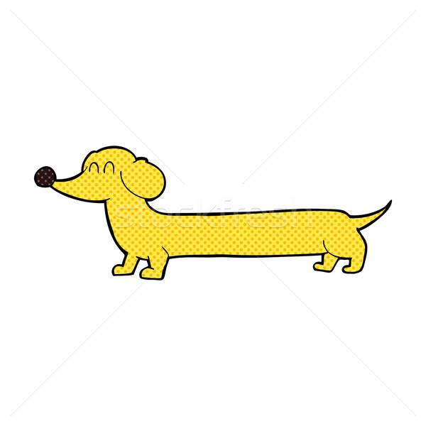 comic cartoon dachshund Stock photo © lineartestpilot