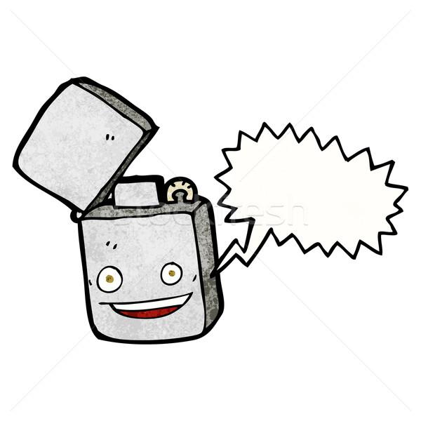 Karikatür Metal çakmak konuşma balonu el dizayn Stok fotoğraf © lineartestpilot