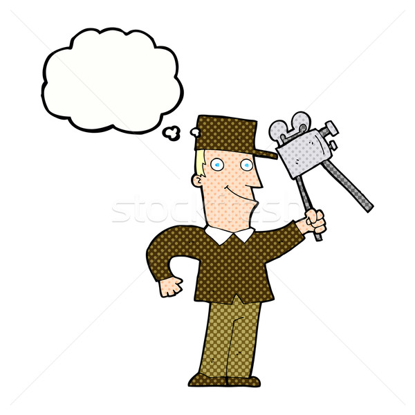 cartoon film maker with thought bubble Stock photo © lineartestpilot